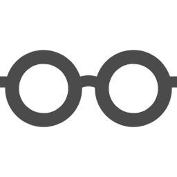 丸眼鏡のフリーアイコン