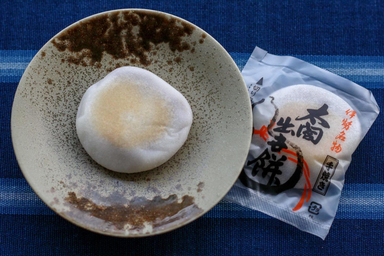 太閤出世餅とパッケージ