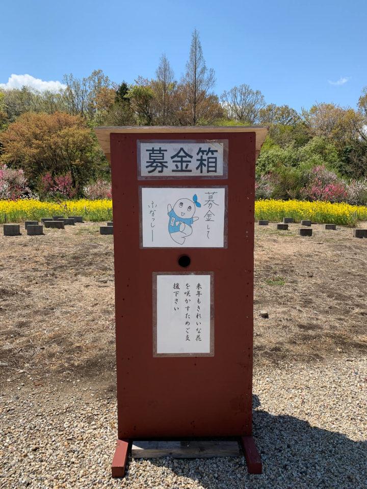 サンアリーナ花の広場 募金箱