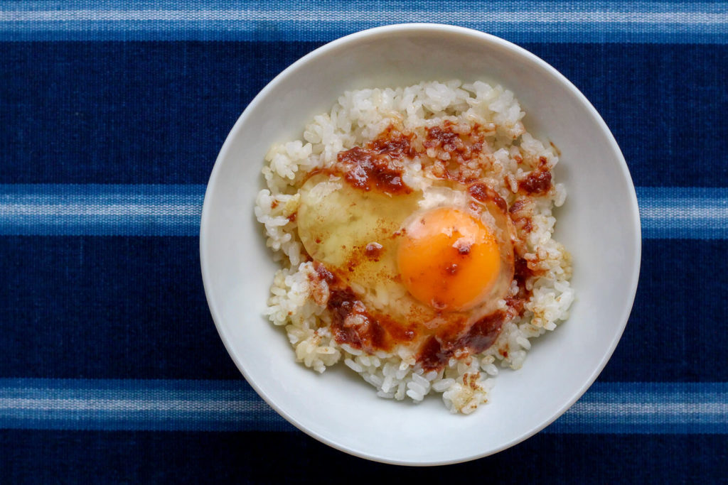 南伊勢町の特産 かっちょび ソマカツオのオリーブオイル漬け卵かけごはん3