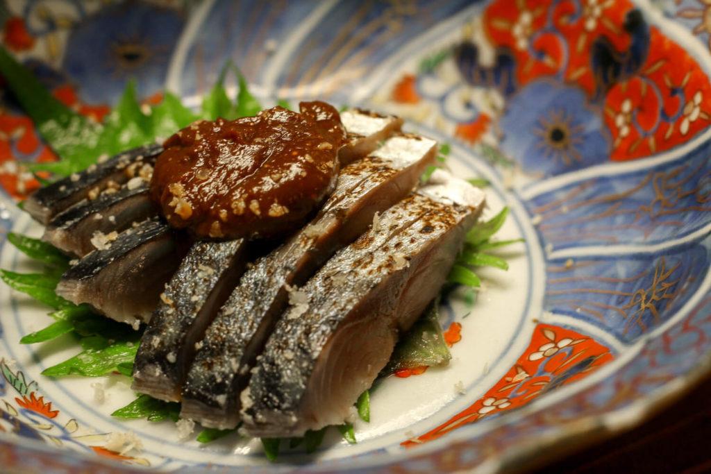 日本酒バー 麻吉 しめ鯖味噌