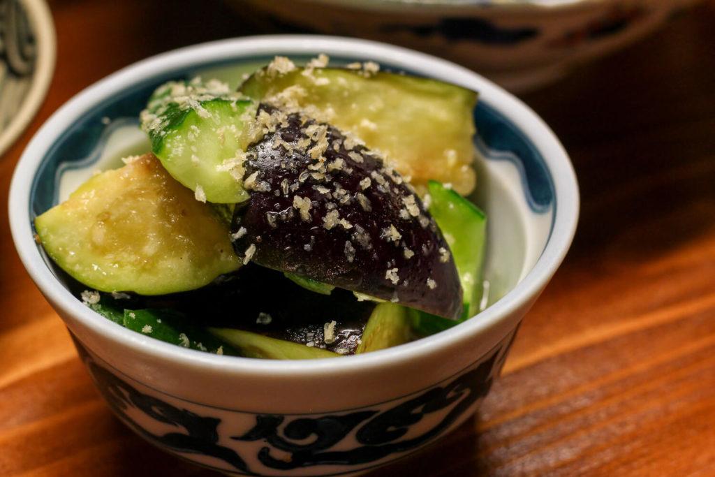 日本酒バー 麻吉 夏野菜の浅漬け