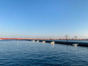 千葉県銚子の川 利根川に架かる銚子橋1