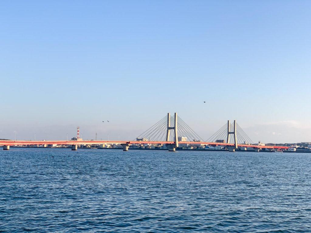 千葉県銚子の川 利根川に架かる銚子橋2