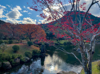 銚子川付近 観光スポット 種まき権兵衛の里 秋の風景
