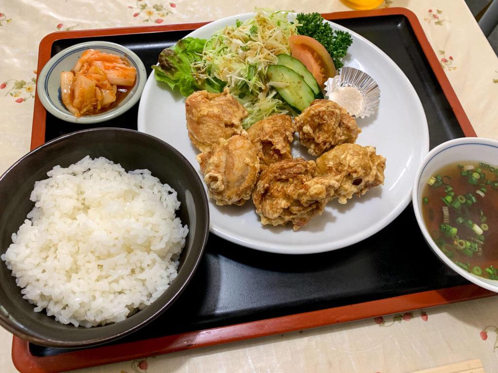 銚子川周辺のお店 潮州 からあげ定食