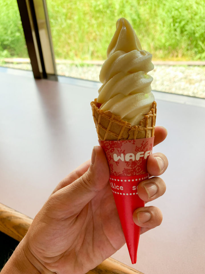 銚子川周辺のお店 道の駅海山 濃厚ソフトクリーム
