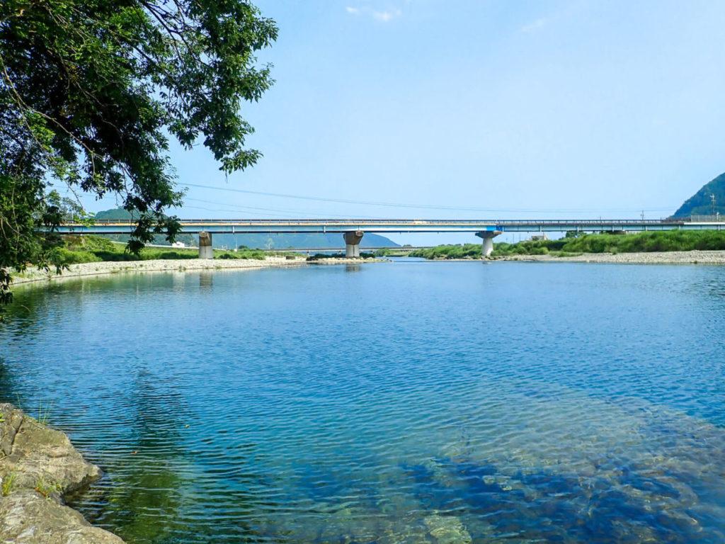 銚子川河口付近 銚子橋の様子