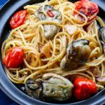 牡蠣のオリーブオイル漬けトマトパスタ2
