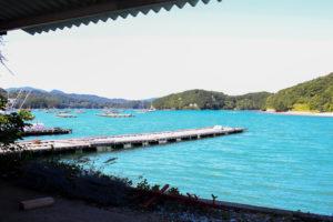 牡蠣の種差し 浦村の海