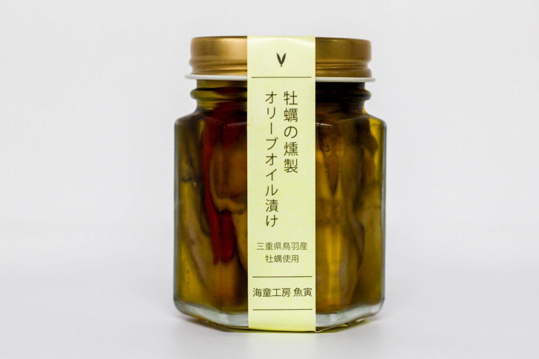 三重県鳥羽市のお土産 牡蠣のオリーブオイル漬け 発酵と燻製専門 海童工房 魚寅 パッケージ