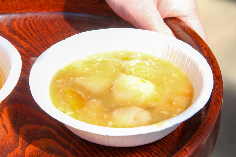 津市ゲストハウスイロンゴ みそ汁 丸焼き 食事3
