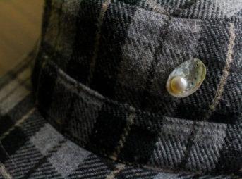 あわび稚貝の真珠ピン4