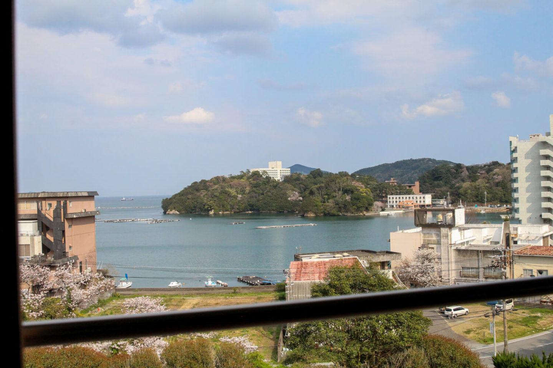 鳥羽小浜荘 2階の部屋からの風景